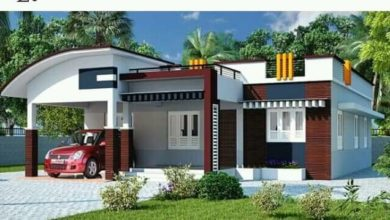 Photo of 1150 Sq Ft 3BHK Contemporary Style Single-Storey House and Free Plan