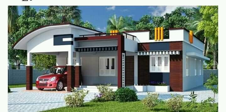 1150 Sq Ft 3BHK Contemporary Style Single-Storey House and Free Plan