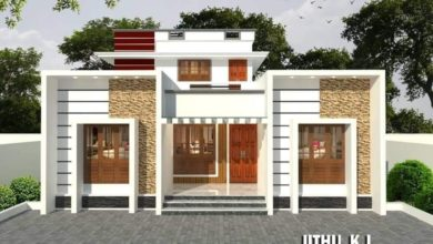 Photo of 1600 Sq Ft 4BHK Modern Two-Storey House and Free Plan