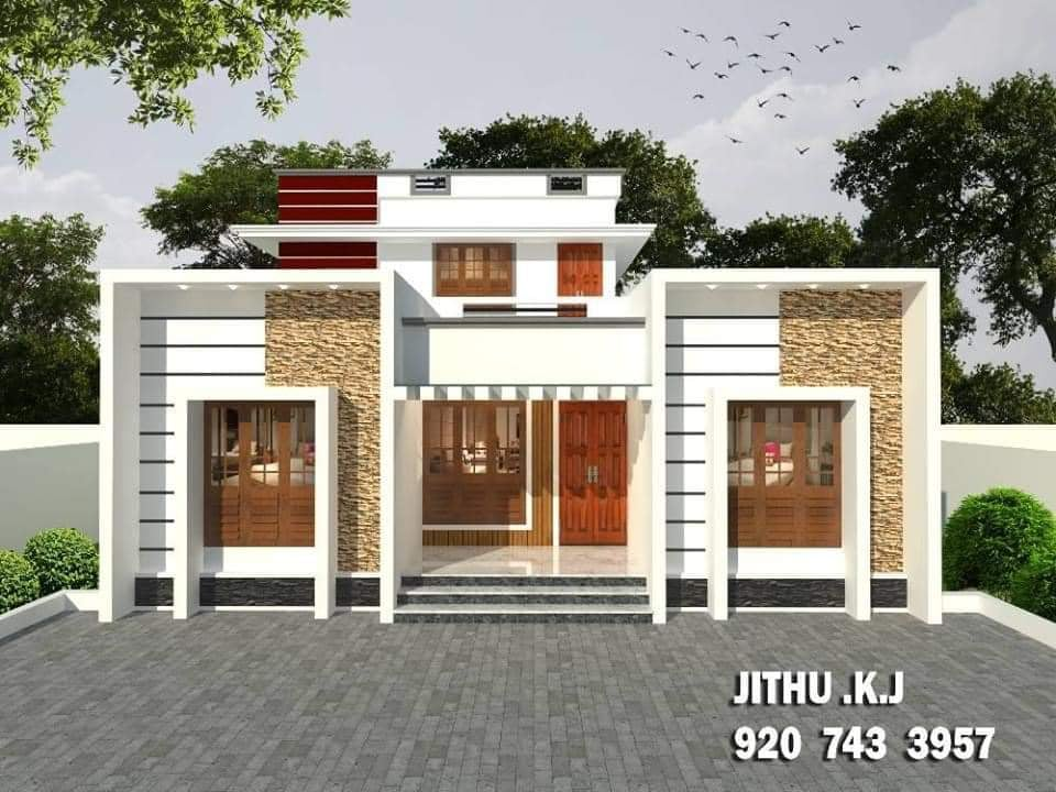 1157 Sq Ft 4BHK Modern Two-Storey House and Free Plan