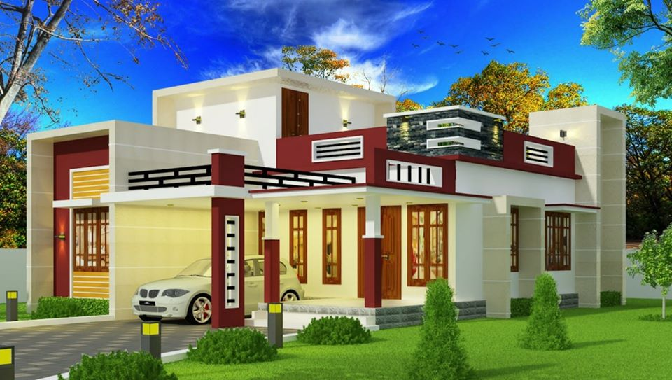 1175 Sq Ft 2BHK Contemporary Style Single-Storey House and Free Plan
