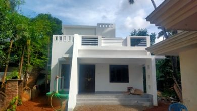 Photo of 1176 Sq Ft 2BHK Contemporary Style Two-Storey House at 7 Cent Plot, Free Plan