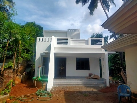1176 Sq Ft 2BHK Contemporary Style Two-Storey House at 7 Cent Plot, Free Plan