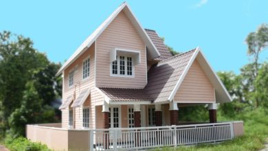 Photo of 1200 Sq Ft 3BHK Colonial Style Two-Storey House at 3 Cent Plot