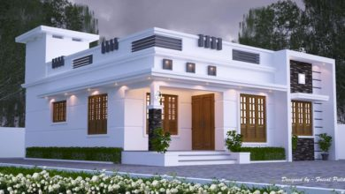 Photo of 1200 Sq Ft 3BHK Contemporary Style Single-Storey House and Free Plan, 20 Lacks