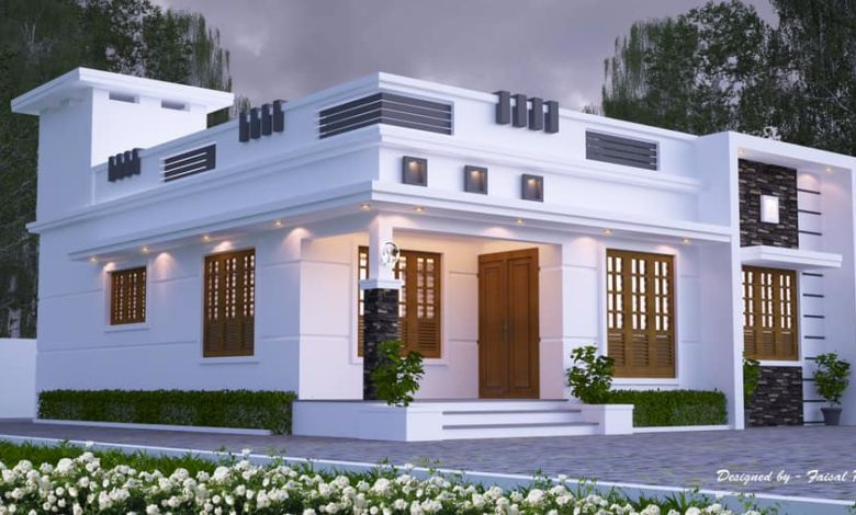 1200 Sq Ft 3BHK Contemporary Style Single-Storey House and Free Plan, 20 Lacks