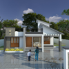 1340 Sq Ft 3BHK Contemporary Style Single-Storey House and Free Plan