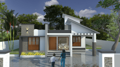 Photo of 1340 Sq Ft 3BHK Contemporary Style Single-Storey House and Free Plan