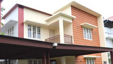 Photo of 1400 Sq Ft 3BHK Flat Roof Modern Two-Storey House at 3.5 Cent Plot