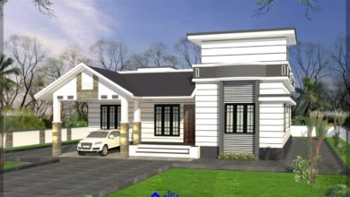 Photo of 1489 Sq Ft 3BHK Traditional Mix Style Single-Storey House and Plan, 25 Lacks