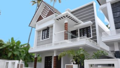 Photo of 1600 Sq Ft 4BHK Contemporary Style Two-Storey House at 4 Cent Plot