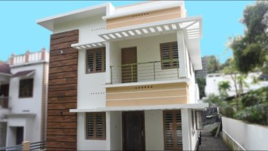 Photo of 1600 Sq Ft 4BHK Contemporary Style Two-Storey House at 4.5 Cent Land