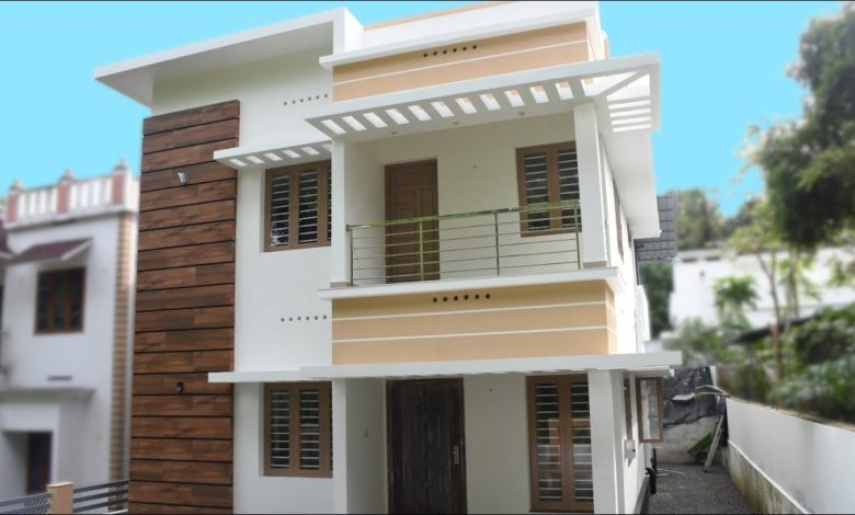 1600 Sq Ft 4BHK Contemporary Style Two-Storey House at 4.5 Cent Land