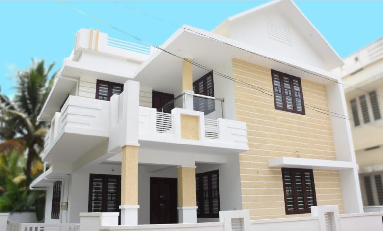 1650 Sq Ft 3BHK Contemporary Style Two-Floor House at 4 Cent Plot