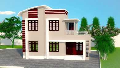Photo of 1696 Sq Ft 4BHK Contemporary Style Two-Storey House and Free Plan
