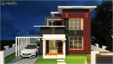 Photo of 1700 Sq Ft 4BHK Contemporary Style Two-Storey House and Free Plan