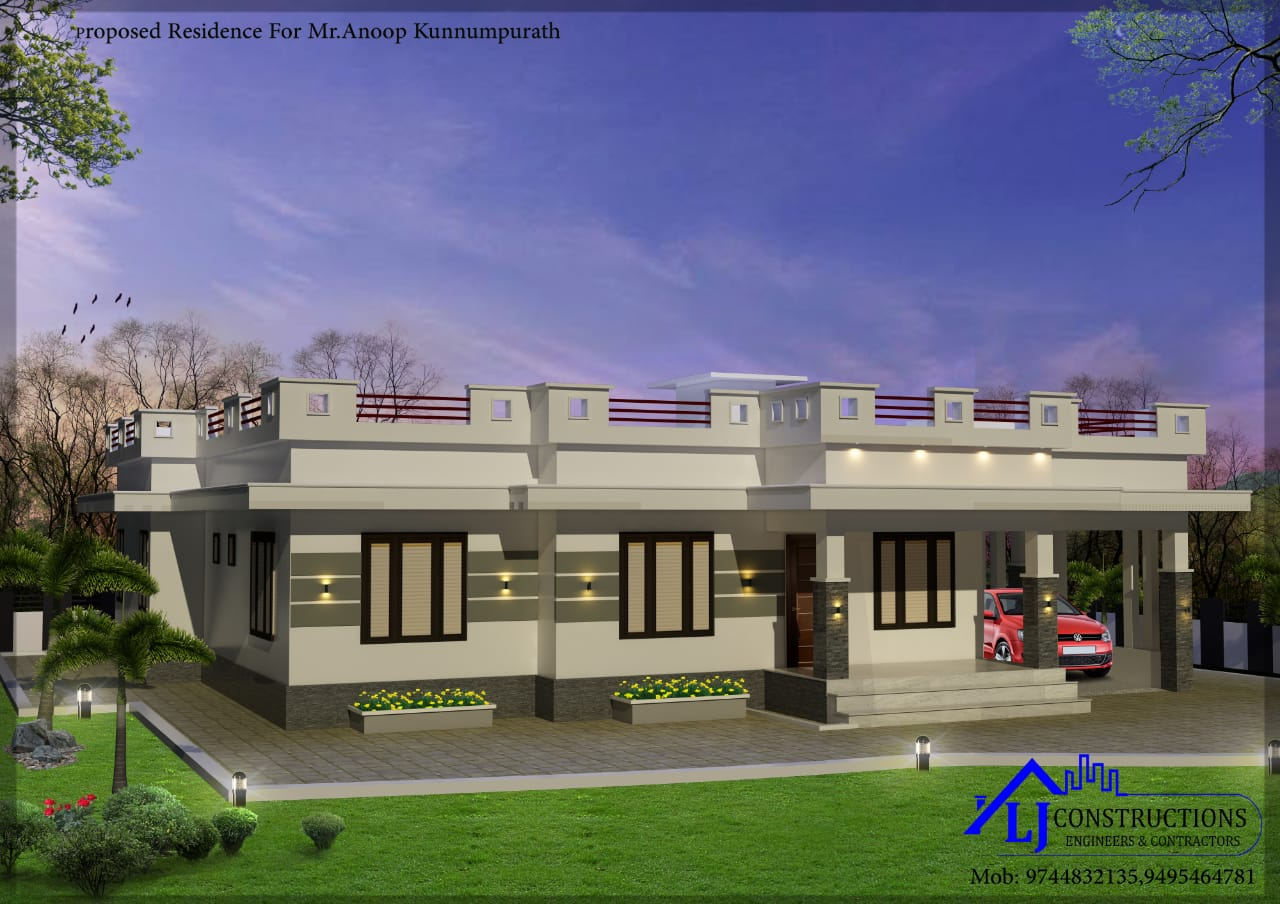 1833 Sq Ft 4BHK Single Floor Modern House and Free Plan, 35 Lacks