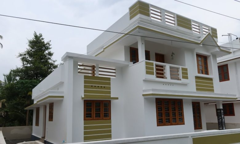 1900 Sq Ft 4BHK Two-Storey Modern House at 5.75 Cent Land