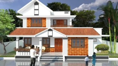 Photo of 2020 Sq Ft 4BHK Traditional Style Two-Storey House and Free Plan