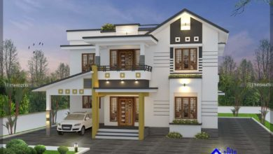 Photo of 2072 Sq Ft 4BHK Contemporary Style Double Floor House and Plan, 40 Lacks