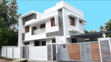 Photo of 2100 Sq Ft 4BHK Contemporary Style Two-Storey House at 5 Cent Plot