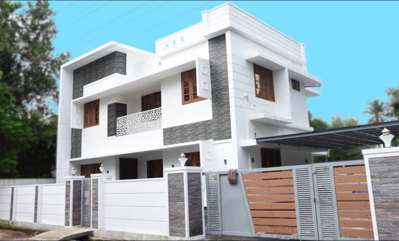 2100 Sq Ft 4BHK Contemporary Style Two-Storey House at 5 Cent Plot