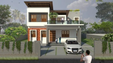 Photo of 2170 Sq Ft 4BHK Contemporary Style Two-Storey House and Free Plan