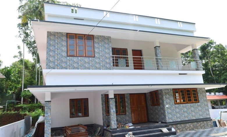 2200 Sq Ft 4BHK Two Storey Beautiful House at 8 Cent Plot