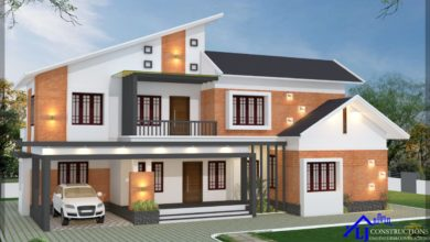 Photo of 2627 Sq Ft 5BHK Contemporary Style Two-Storey House and Free Plan
