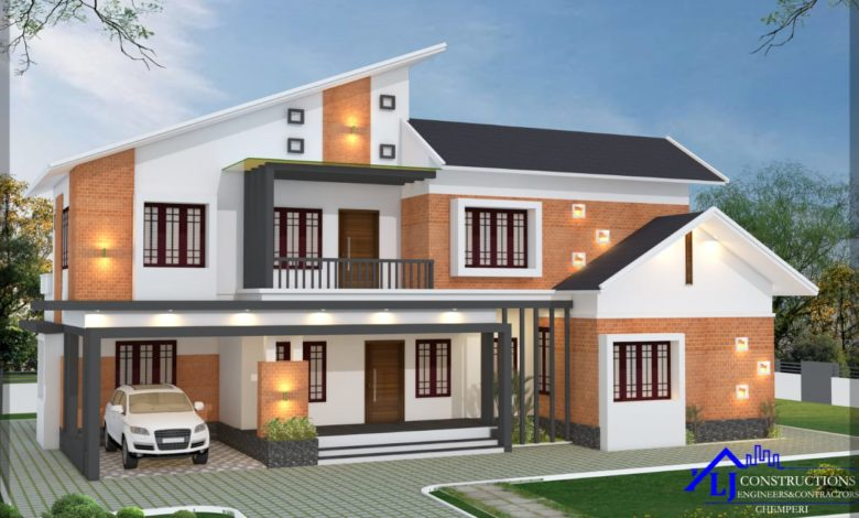 2627 Sq Ft 5BHK Contemporary Style Two-Storey House and Free Plan