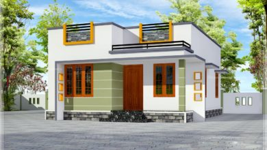 Photo of 650 Sq Ft 2BHK Contemporary Style Single-Storey House and Free Plan, 10 Lacks