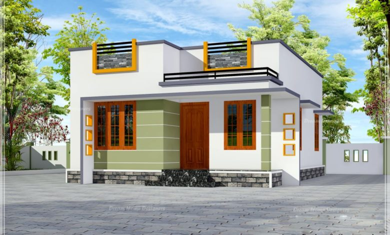 650 Sq Ft 2BHK Contemporary Style Single-Storey House and Free Plan, 10 Lacks