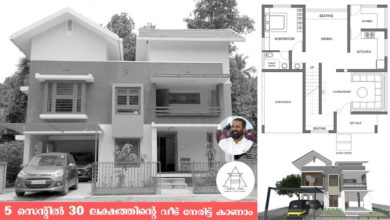 Photo of 4BHK Contemporary Style Two-Storey House and Plan at 5 Cent Plot, 30 Lacks