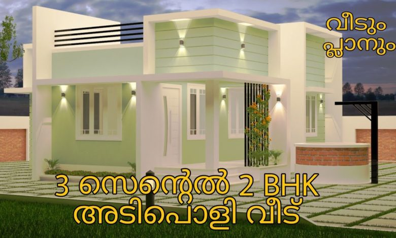 600 Sq Ft 2BHK Contemporary Style Modern House and Free Plan
