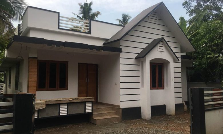 750 Sq Ft 2BHK Modern Single-Storey House and Free Plan, 12 Lacks