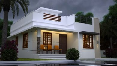 Photo of 850 Sq Ft 2BHK Contemporary Style Single-Storey House Design