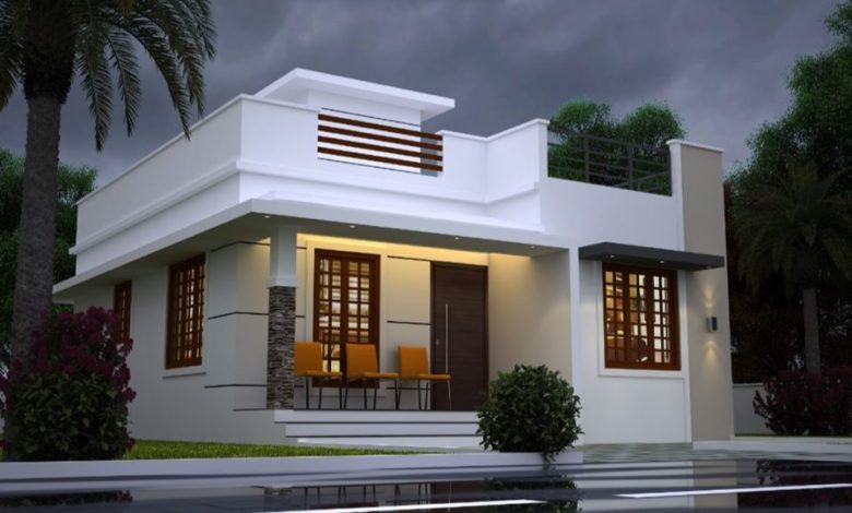 850 Sq Ft 2BHK Contemporary Style Single-Storey House Design