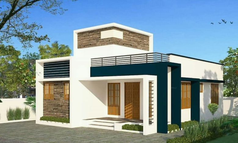 900 Sq Ft 2BHK Single-Storey Modern and Simple House and ...