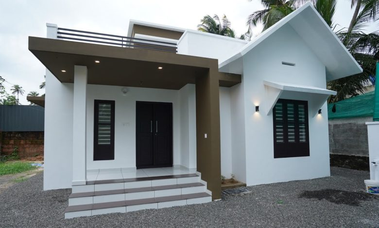 950 Sq Ft 2BHK Contemporary Style Single-Storey House at 5 Cent Plot