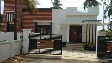 Photo of 956 Sq Ft 3BHK Contemporary Style Single Floor House and Free Plan
