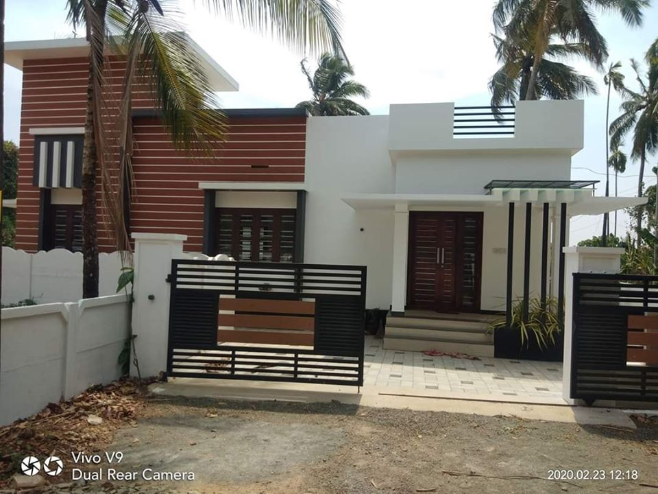 956 Sq Ft 3BHK Contemporary Style Single Floor House and Free Plan