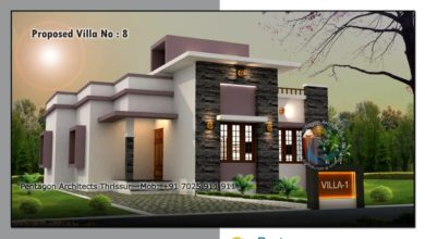 Photo of 980 Sq Ft 3BHK Contemporary Style Single-Storey House and Free Plan
