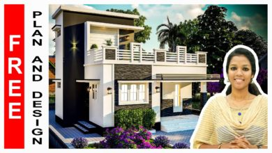 Photo of 1015 Sq Ft 3BHK Two-Storey Modern House and Free Plan, 16.30 Lacks