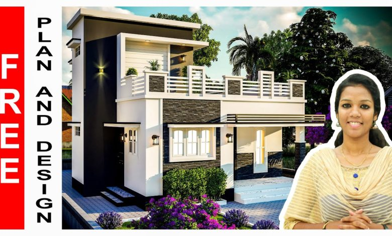 1015 Sq Ft 3BHK Two-Storey Modern House and Free Plan, 16.30 Lacks