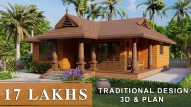 Photo of 1020 Sq Ft 2BHK Traditional Style Single Floor House and Free Plan, 17 Lacks
