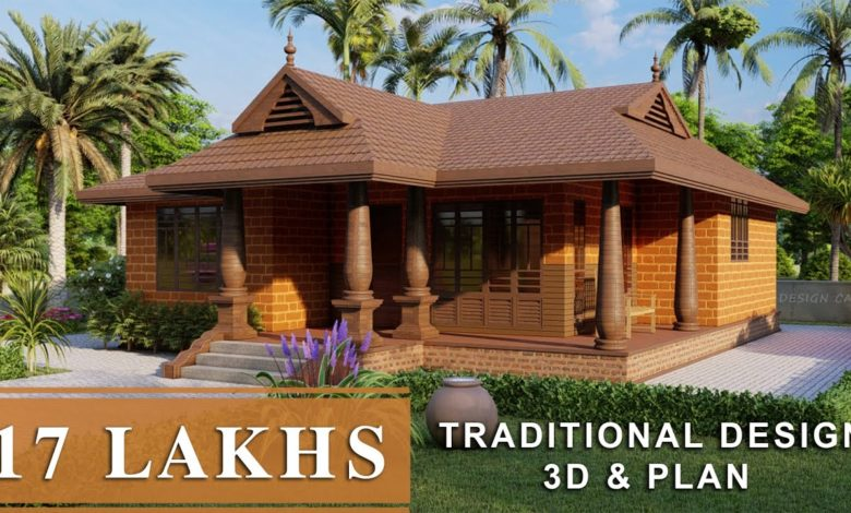 1020 Sq Ft 2BHK Traditional Style Single Floor House and Free Plan, 17 Lacks