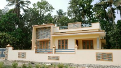 Photo of 1200 Sq Ft 3BHK Single-Storey Simple and Beautiful House at 8 Cent Plot
