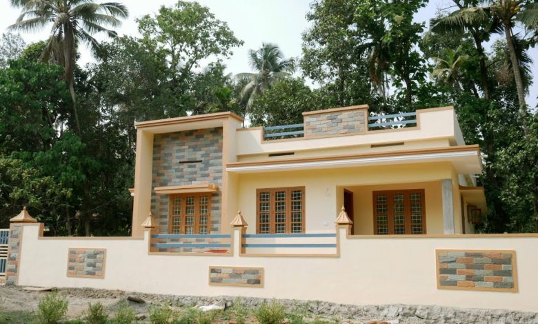 1200 Sq Ft 3BHK Single-Storey Simple and Beautiful House at 8 Cent Plot