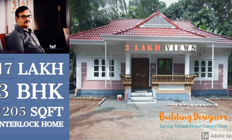 1205 Sq Ft 3BHK Traditional Style Single Floor House, 17 Lacks