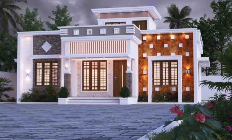 1220 Sq Ft 2BHK Single Floor Modern and Beautiful House Design